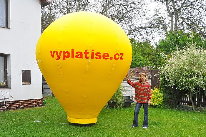 Reklamní nafukovací balón 4 m  5b96c15b0e7ee